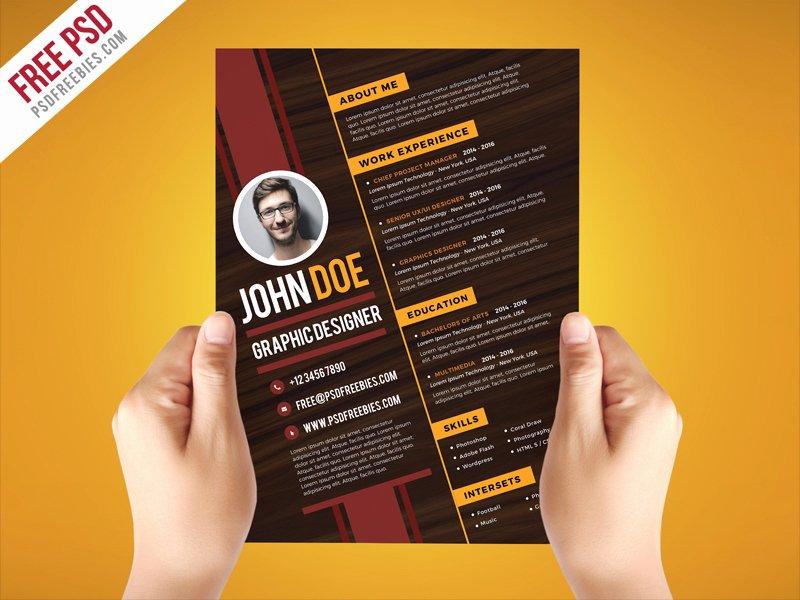 Free Psd Creative Graphic Designer Resume Template Psd