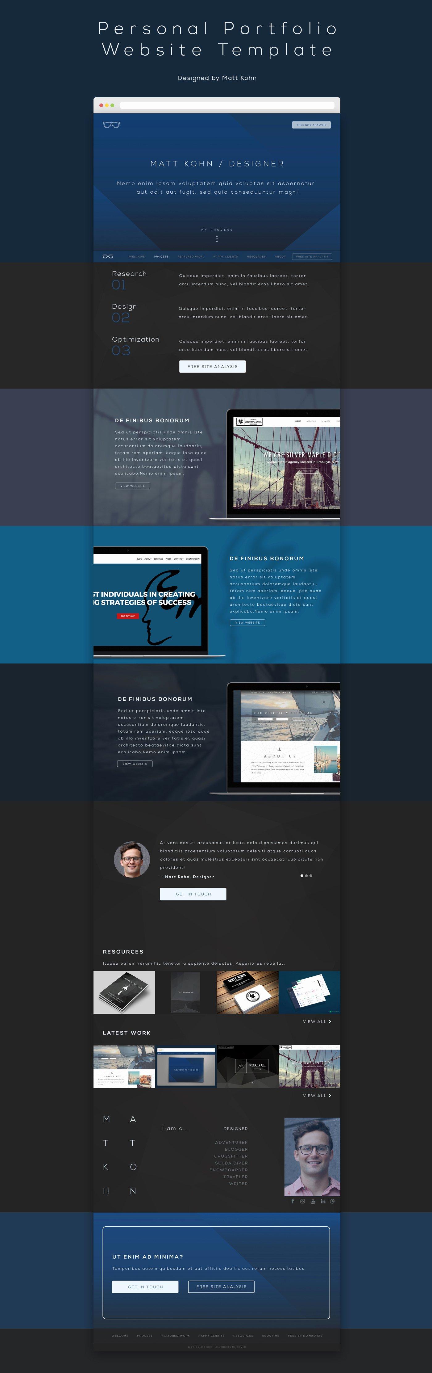 [free Psd] Personal Portfolio Website Template
