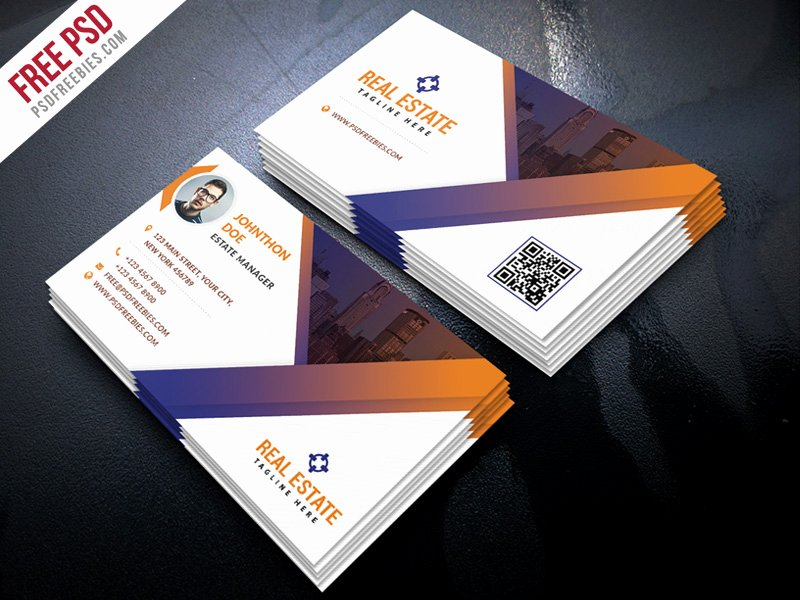 Free Psd Real Estate Business Card Template Psd