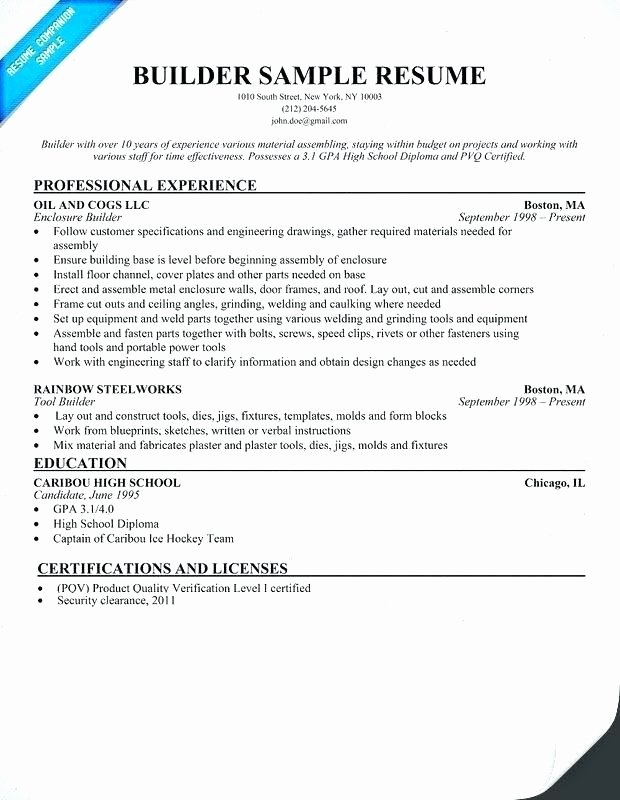 Free Quick Easy Resume Builder