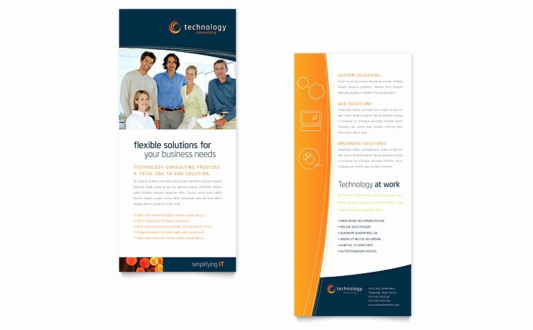 Free Rack Card Template Download Word & Publisher Templates