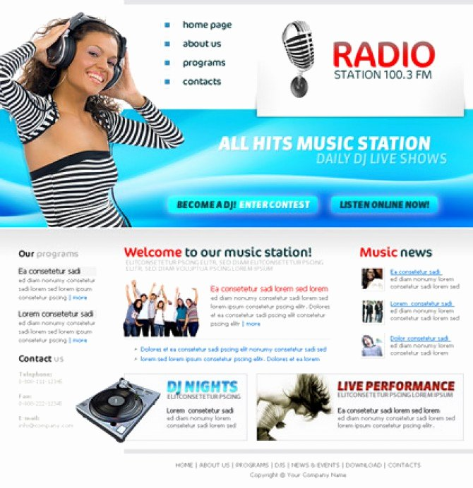 Free Radio Station Template Free Template