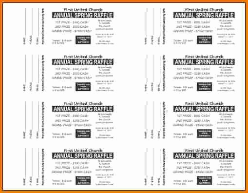 Free Raffle Ticket Template for Word