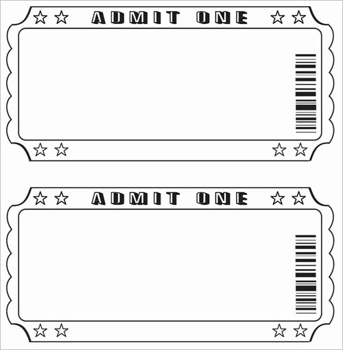 Free Raffle Ticket Template