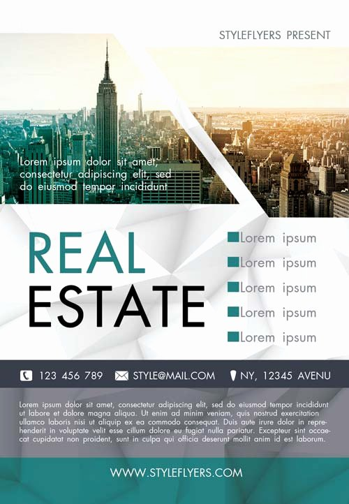 Free Real Estate Agency Flyer Template Download Flyer