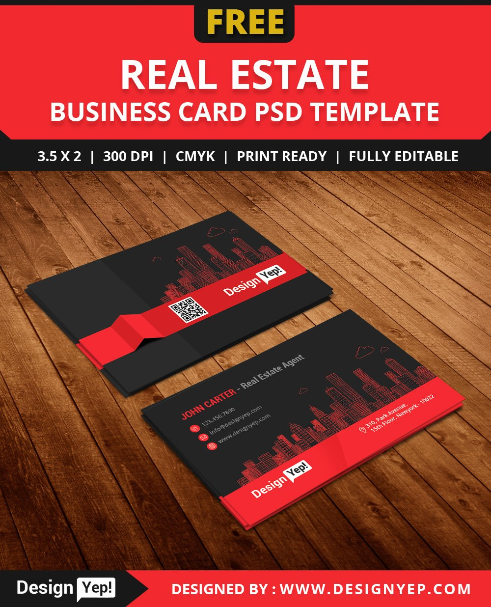 Free Real Estate Agent Business Card Template Psd Designyep