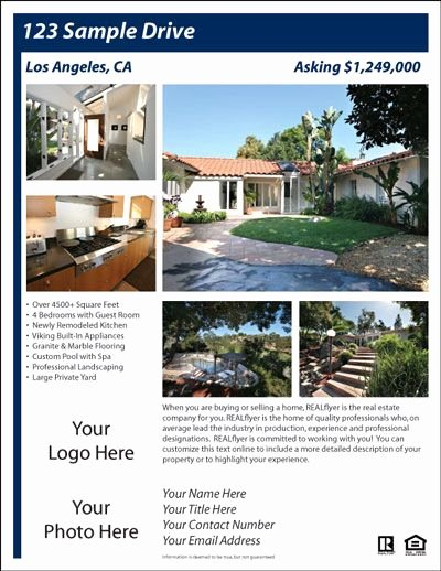 Free Real Estate Brochure Templates 10 Best Free Flyer