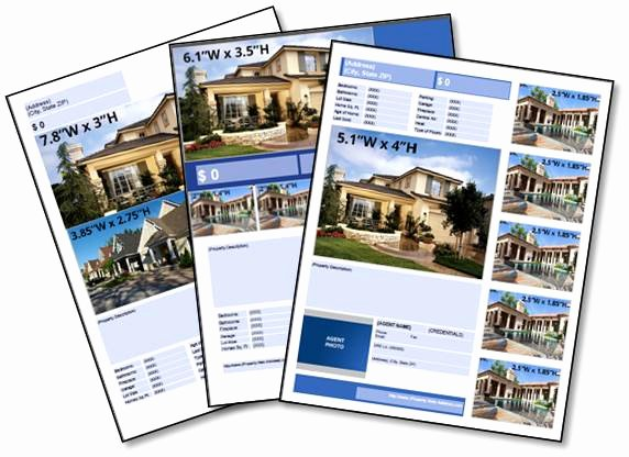 Free Real Estate Brochure Templates Luxury Home Fly and