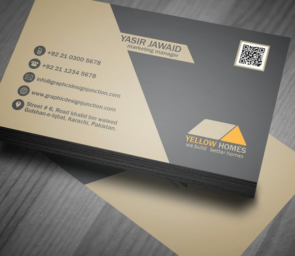 Free Real Estate Business Card Template Psd