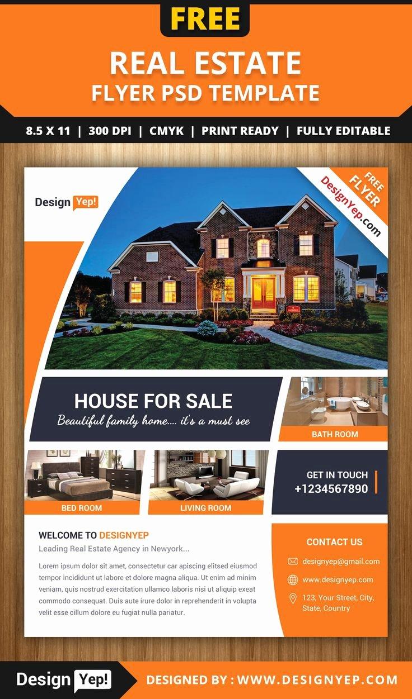 Free Real Estate Flyer Psd Template 7861 Designyep