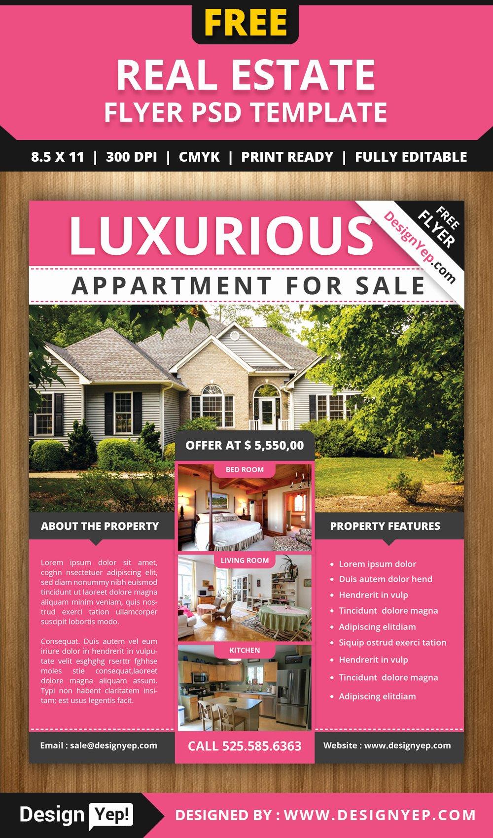 Free Real Estate Flyer Psd Template Designyep