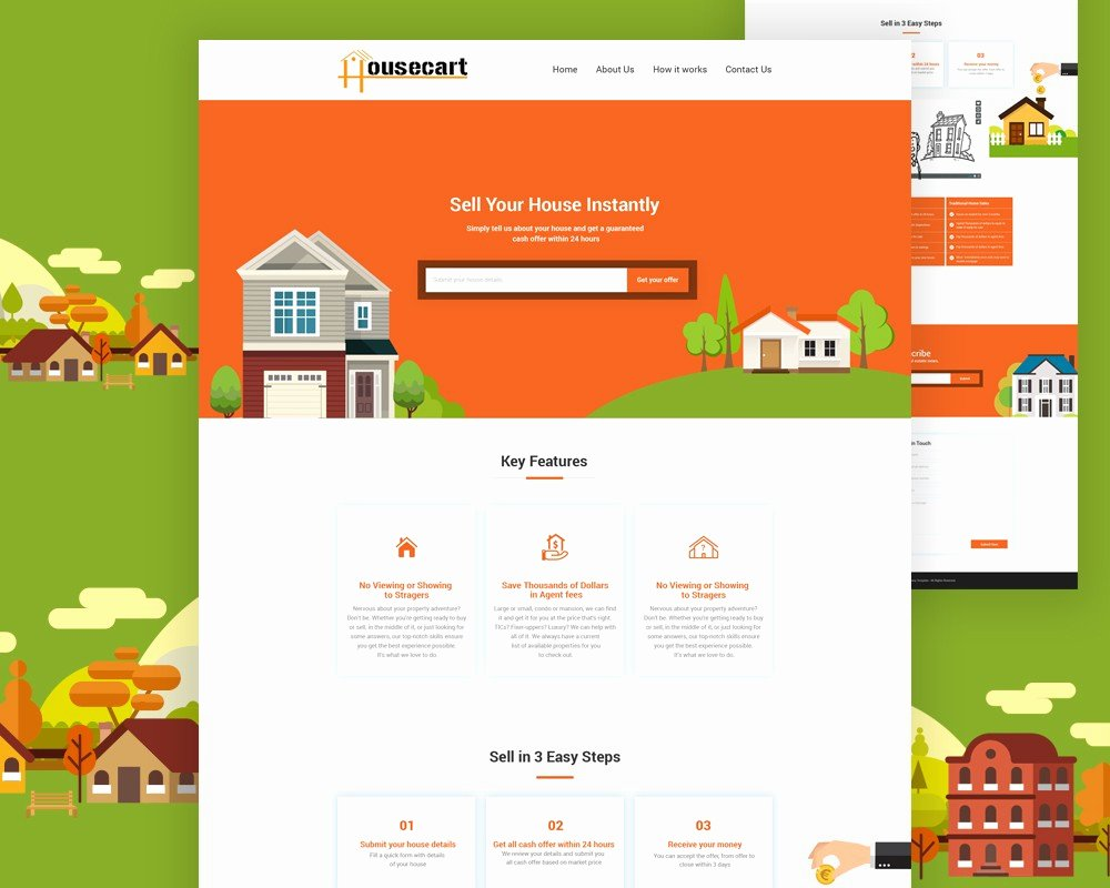 Free Real Estate Website Template Psd Download Download Psd