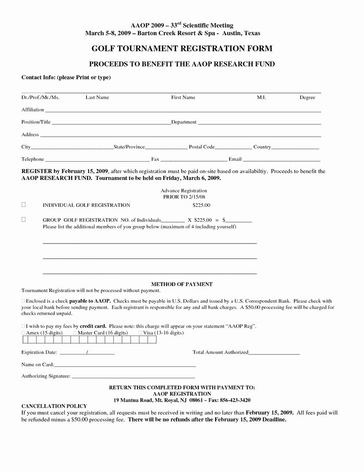 Free Registration form Template
