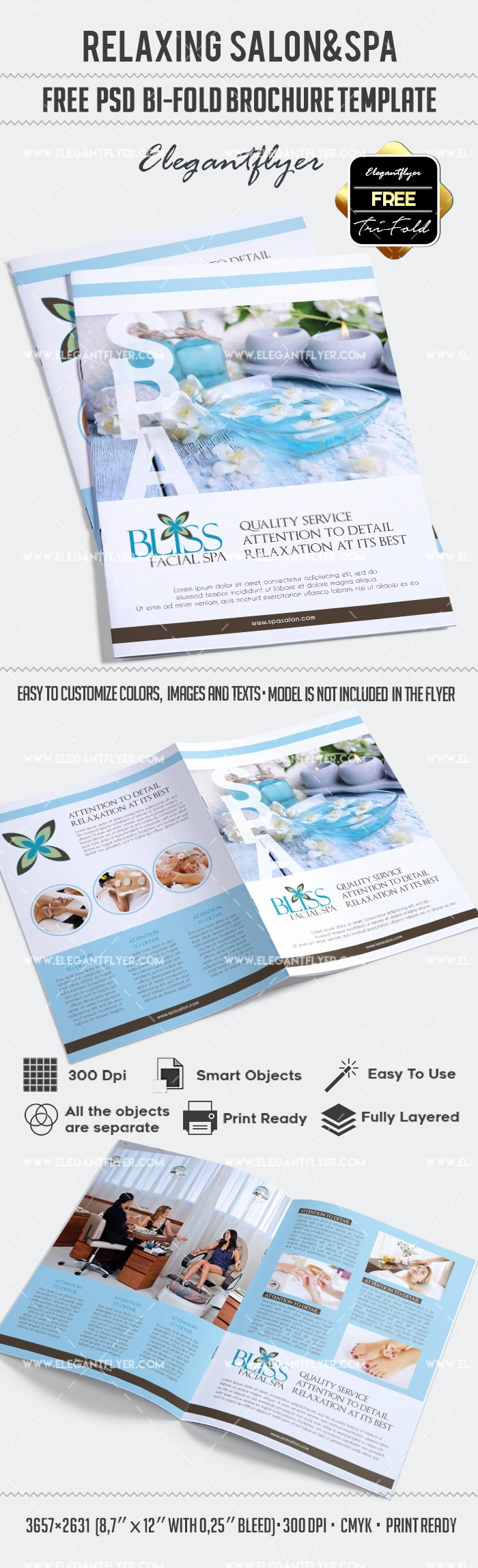 Free Relaxing Salon for Bi Fold Psd Brochure – by Elegantflyer