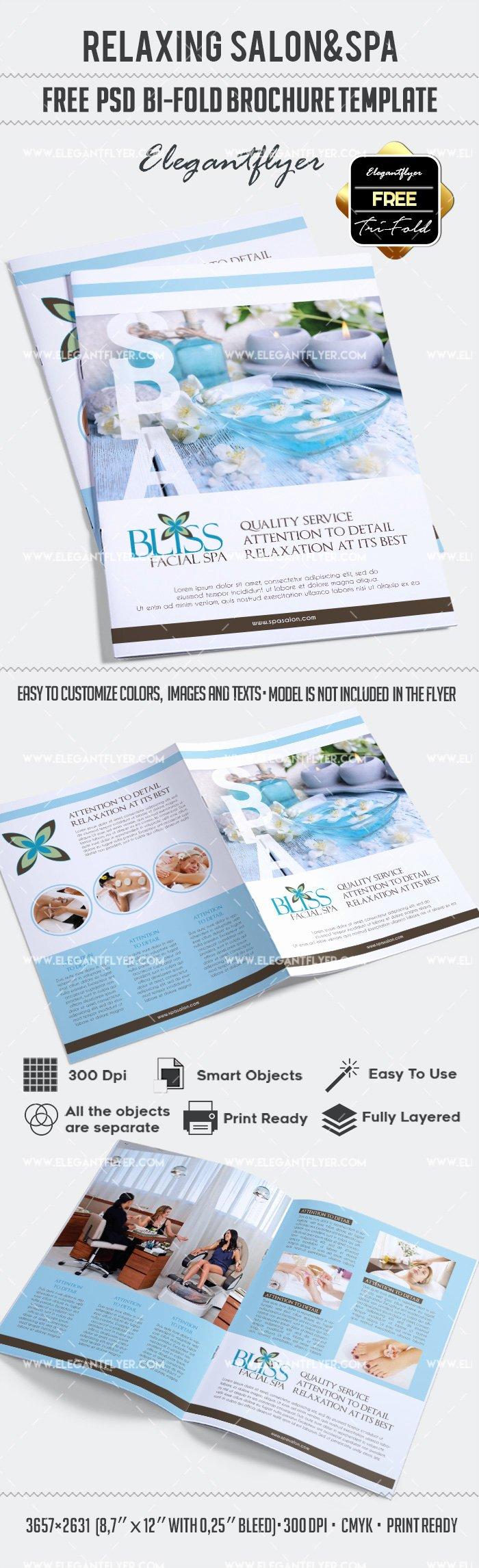 Free Relaxing Salon for Bi Fold Psd Brochure – by Elegantflyer