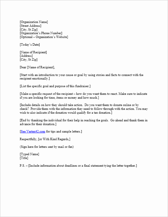 Free Request for Donation Letter Template