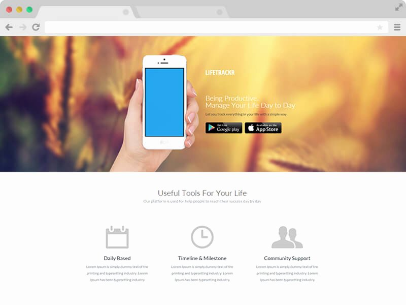 Free Responsive Bootstrap App Landing Page Template In 2017