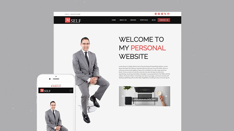 Free Responsive Personal Bootstrap HTML5 Template Mself