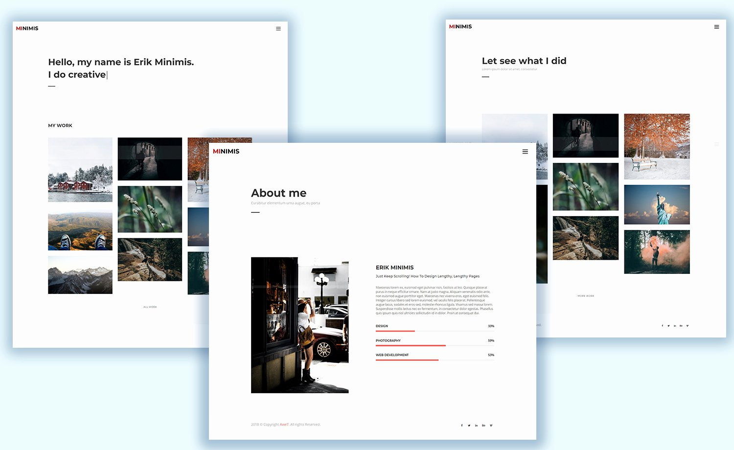 Free Responsive Personal Portfolio Template with Multi