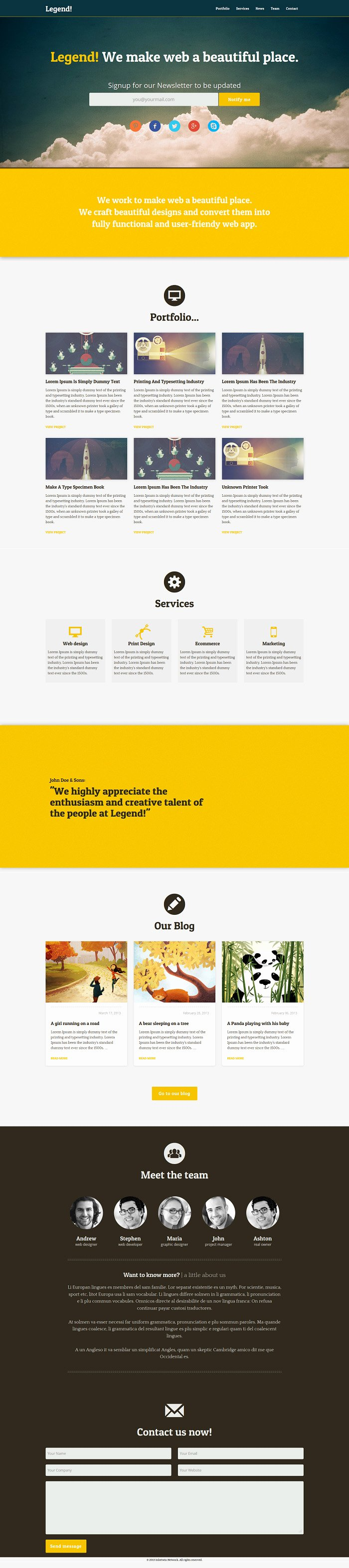 Free Responsive Web Templates with Psd