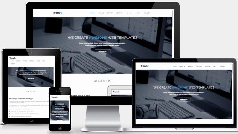 Free Responsive Website Template Webthemez
