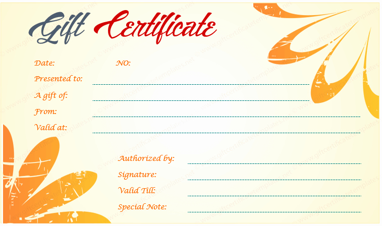 Free Restaurant Gift Certificate Templates