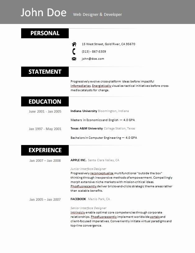 Free Resume Builder 2017