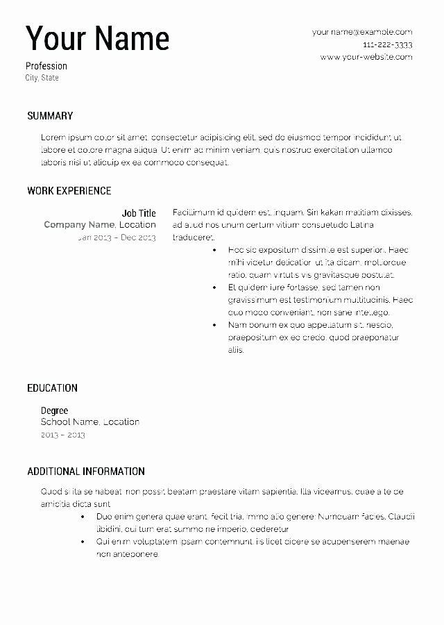 Free Resume Builder App Free Download Resume Builder Free