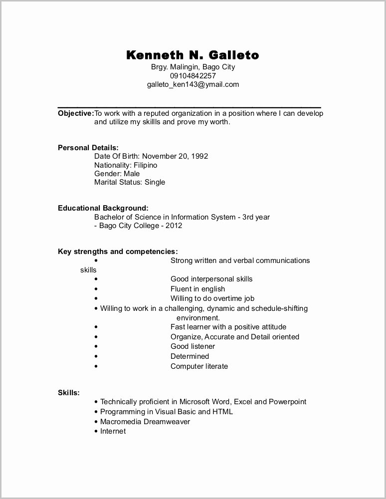 Free Resume Builder for Freshers Resume Resume