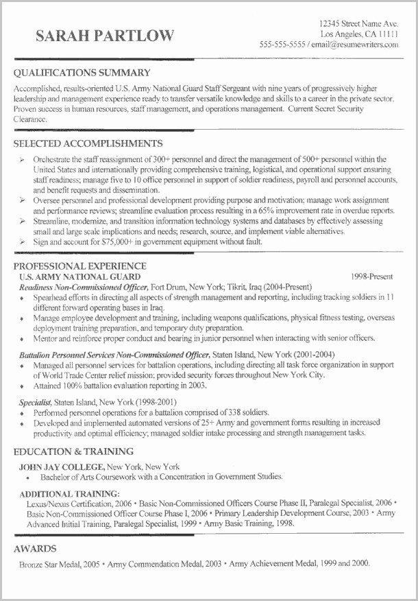 Free Resume Builder for Veterans Resume Resume