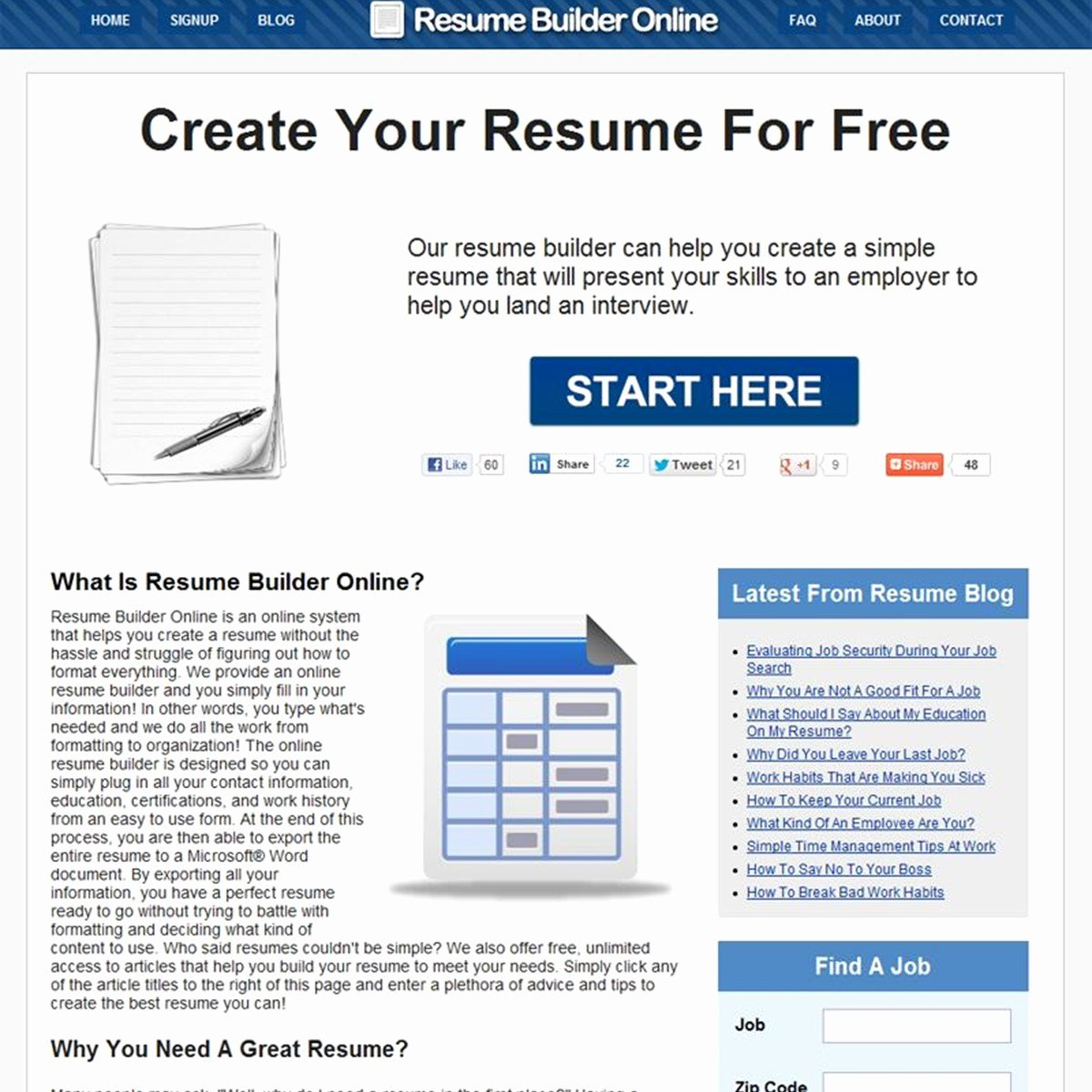 Free Resume Builder Line Alternatives Alternativeto