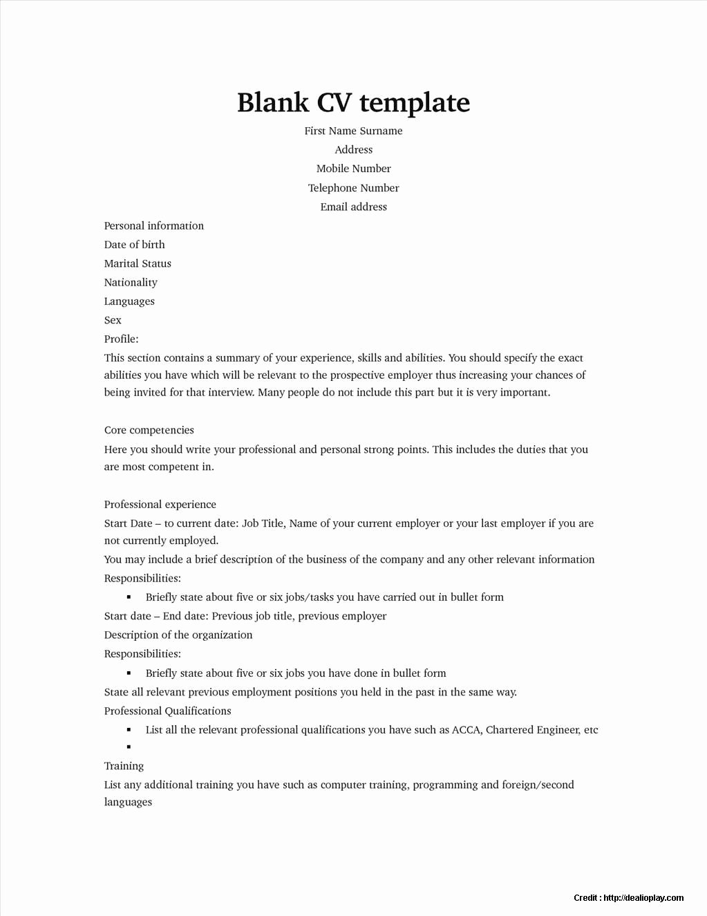 Free Resume Builder Word Document Resume Resume