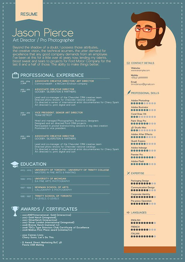 Free Resume Cv Template & Mock Up Psd for Graphic Designers