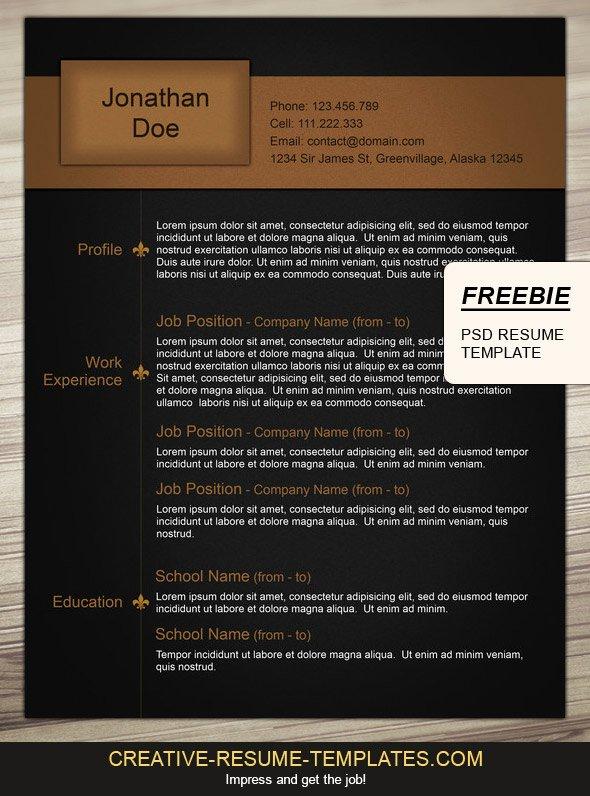 Free Resume Design to Download