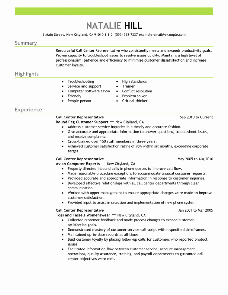 Free Resume Examples & Samples for All Jobseekers