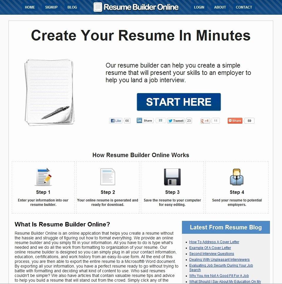 Free Resume Maker Line