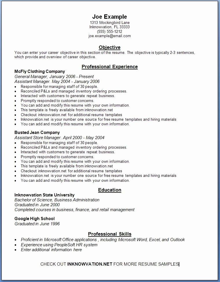 Free Resume Samples Line Sample Resumes