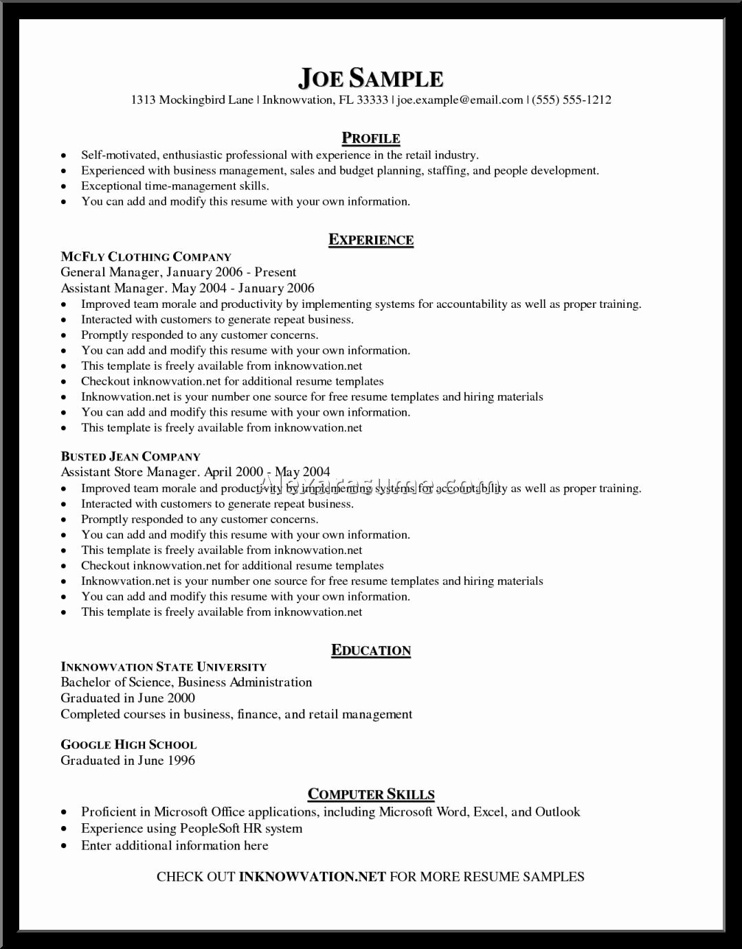 Free Resume Template Copy Paste – Perfect Resume format