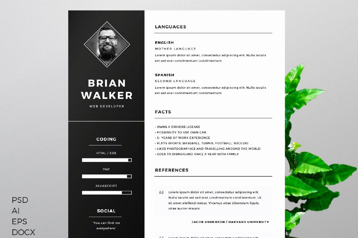 Free Resume Template Creativebooster