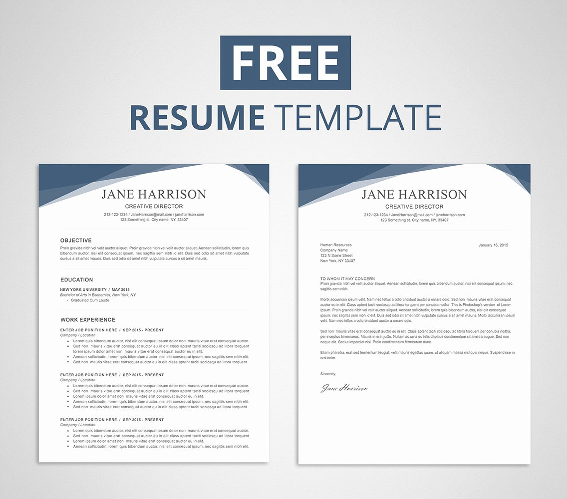 Free Resume Template for Word & Shop Graphicadi