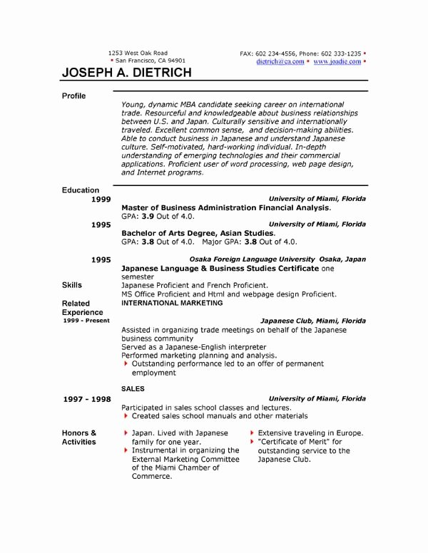 Free Resume Template S 85 Free Resume Templates to
