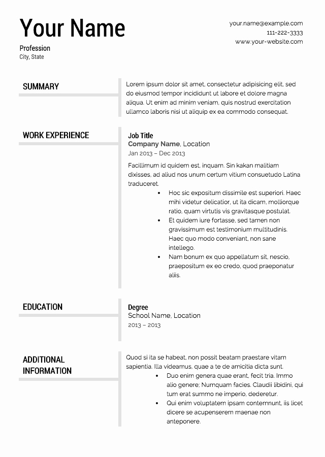 Demo Resume 85 Free Templates Easy Template