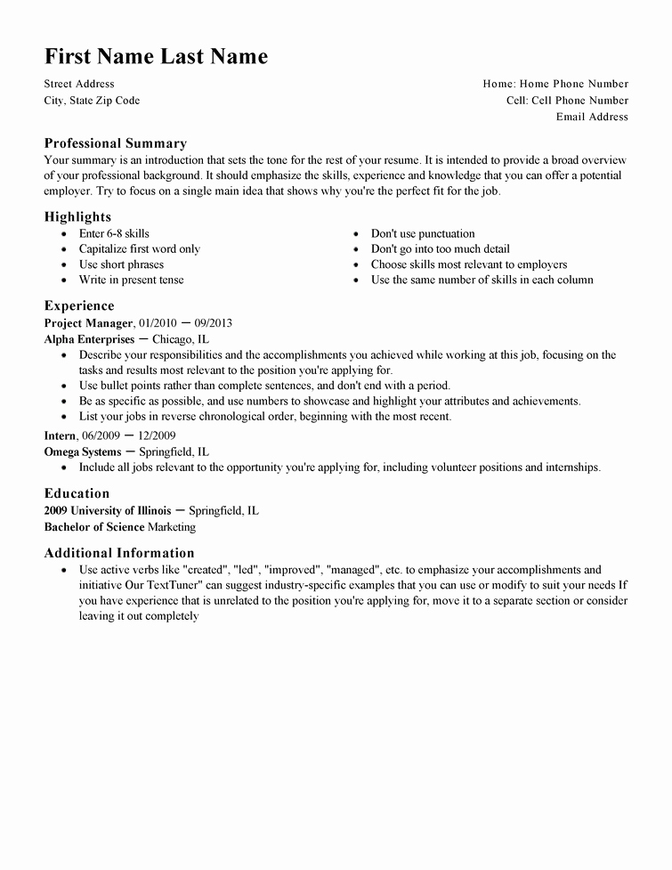 Free Resume Templates Fast & Easy