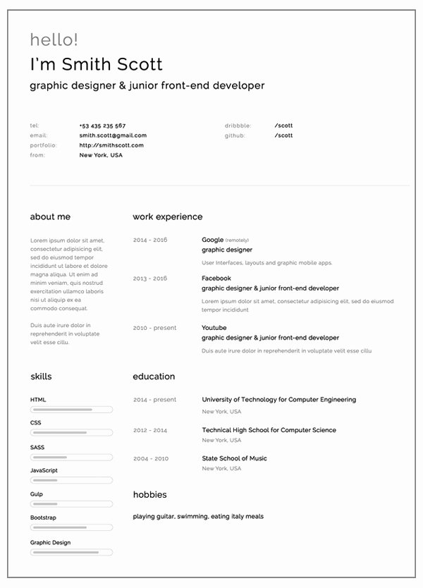 Free Resume Templates for 2017 Freebies