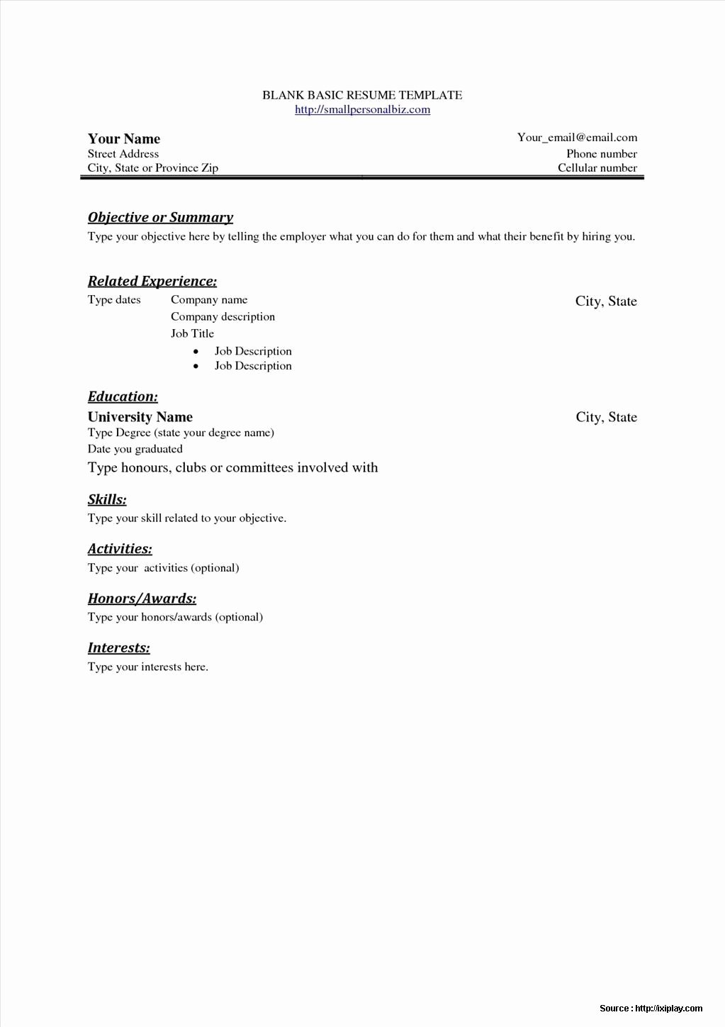 Free Resume Templates for Word Starter 2010 Resume