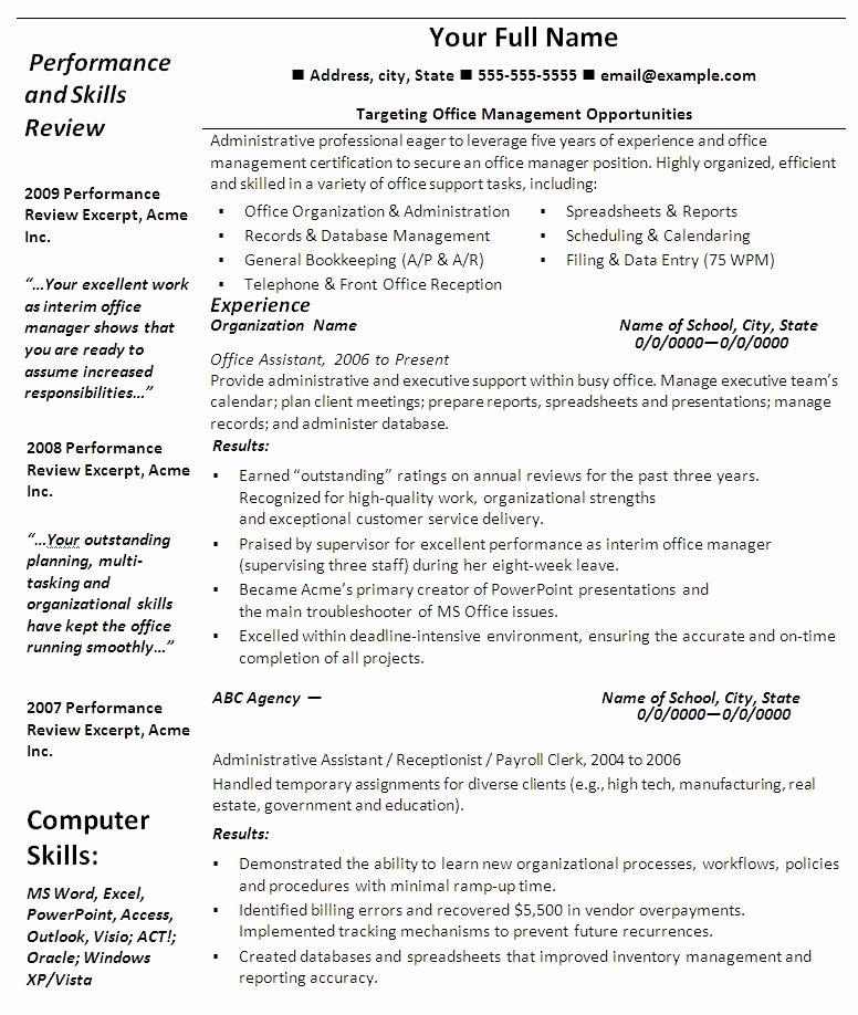 Free Resume Templates Microsoft Fice