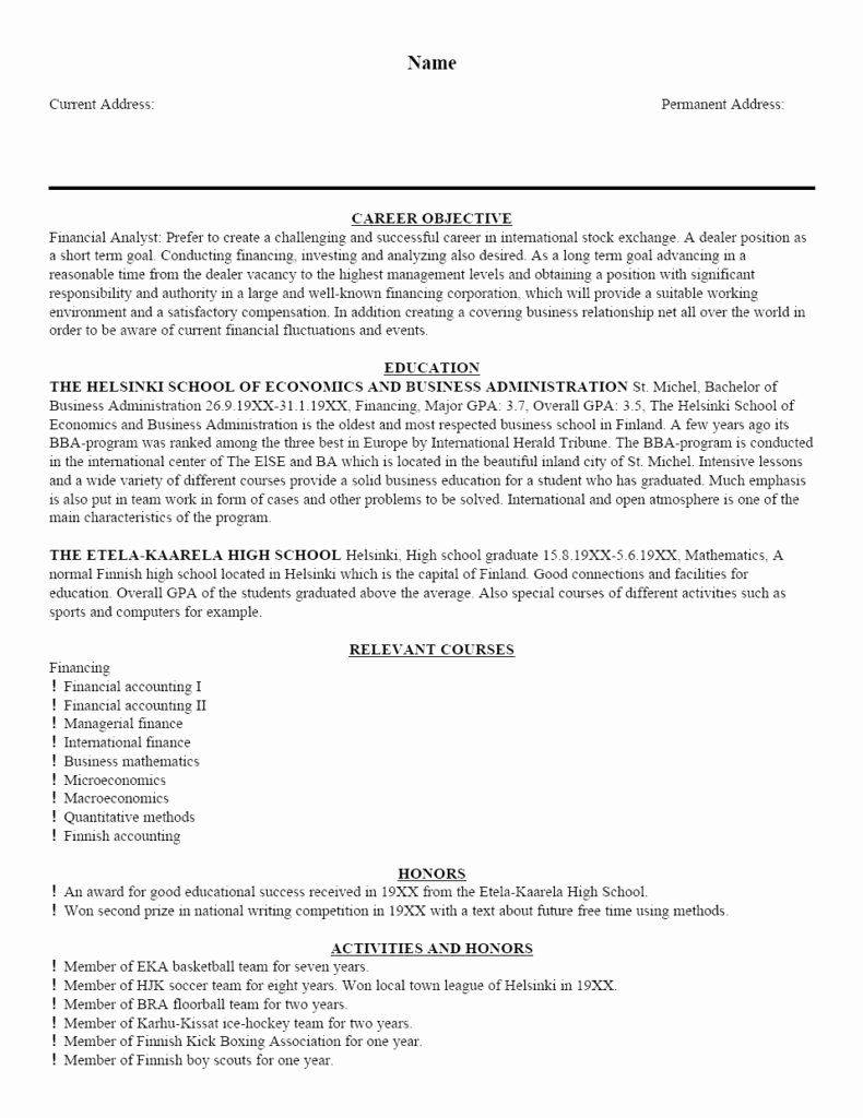 Free Resume Writing