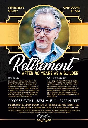 Free Retirement Flyer Templates for Shop