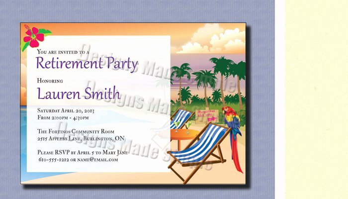 Free Retirement Invitation Template for Word