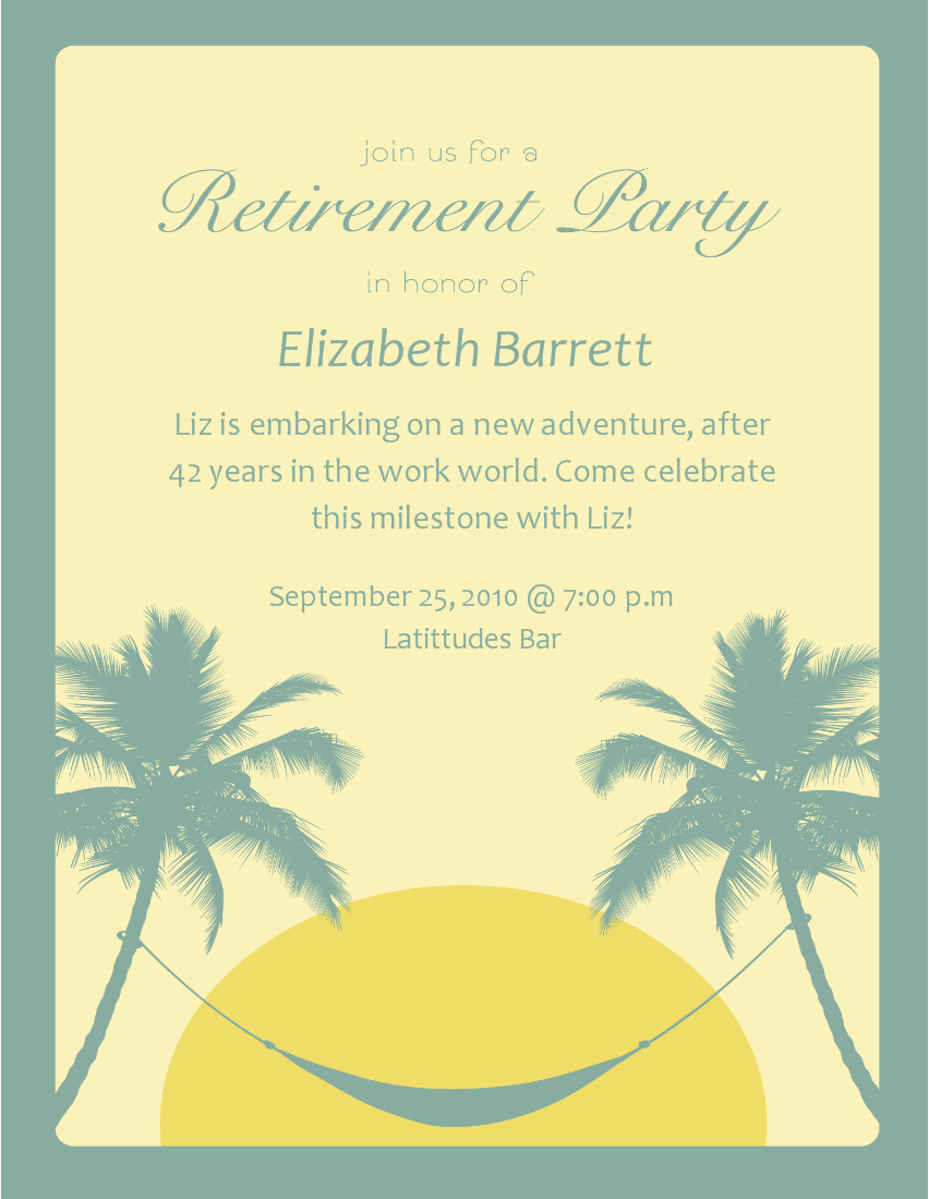 Free Retirement Invitations